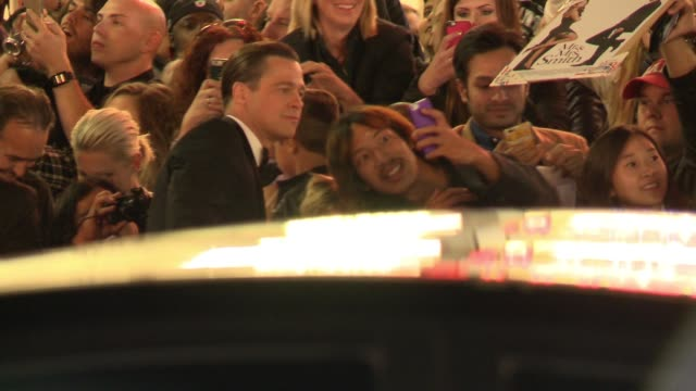 Brad Pitt and Angelina Jolie greet fans at By The Sea World Premiere Gala Screening AFI Fest 2015 at TCL Chinese Theatre on November 05 2015 in...