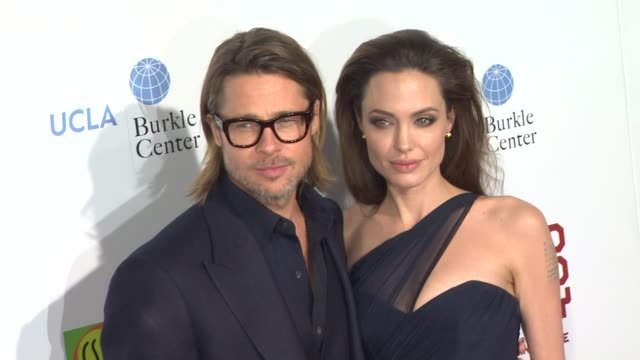 brad pitt, angelina jolie at in the land of blood and honey los angeles premiere] on 12/8/11 in hollywood, ca. - angelina jolie stock-videos und b-roll-filmmaterial