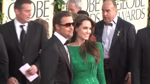 brad pitt, angelina jolie at the 68th annual golden globe awards - arrivals part 2 at beverly hills ca. - angelina jolie stock videos & royalty-free footage