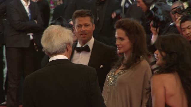 Brad Pitt Angelina Jolie Dina Eastwood and Clint Eastwood at the Cannes steps and exits for 'Changeling' in Cannes on May 20 2008