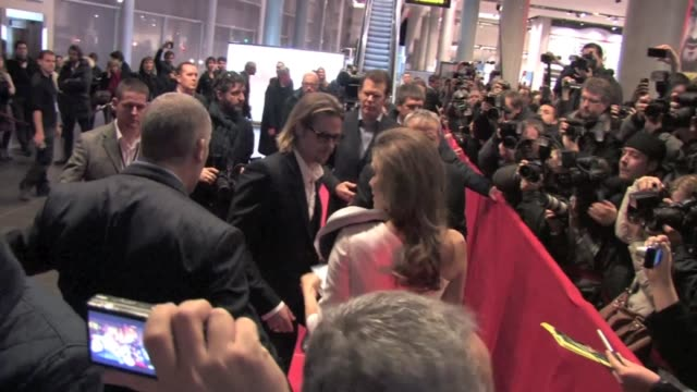 Brad Pitt Angelina Jolie Goran Kostic Zana Marjanovic at In the land of blood and honey premiere in Paris Brad Pitt and Angelina Jolie in Paris on...