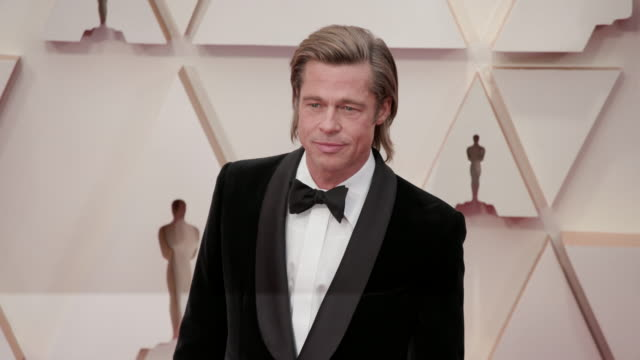 brad pitt at dolby theatre on february 09, 2020 in hollywood, california. - academy awards stock videos & royalty-free footage