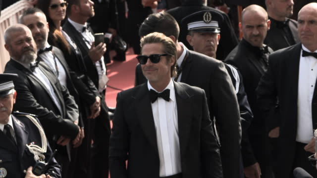 GIF Brad Pitt at 'Once Upon a time in Hollywood ' Red Carpet Arrivals The 72nd Cannes Film Festival at Grand Theatre Lumiere on May 21 2019 in Cannes...