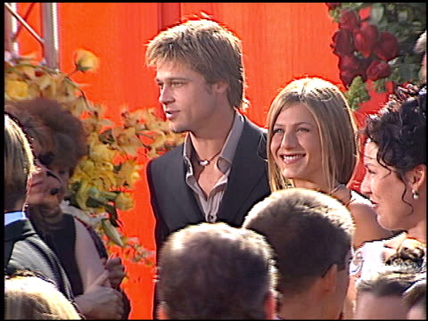 brad pitt at the 2000 emmy awards at the shrine auditorium in los angeles, california on september 10, 2000. - shrine auditorium stock videos & royalty-free footage
