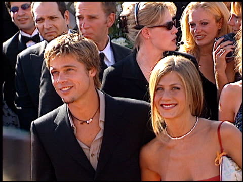 brad pitt at the 2000 emmy awards at the shrine auditorium in los angeles california on september 10 2000 - awards ceremony stock videos & royalty-free footage