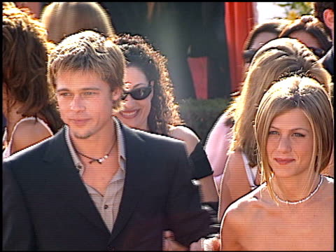 brad pitt at the 2000 emmy awards at the shrine auditorium in los angeles, california on september 10, 2000. - shrine auditorium video stock e b–roll