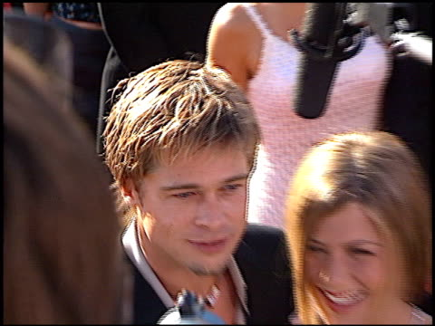 brad pitt at the 2000 emmy awards at the shrine auditorium in los angeles, california on september 10, 2000. - emmy awards stock videos & royalty-free footage