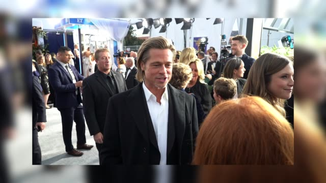 brad pitt at the 26th annual screen actors guild awards at the shrine auditorium on january 19, 2020 in los angeles, california. - screen actors guild awards stock-videos und b-roll-filmmaterial