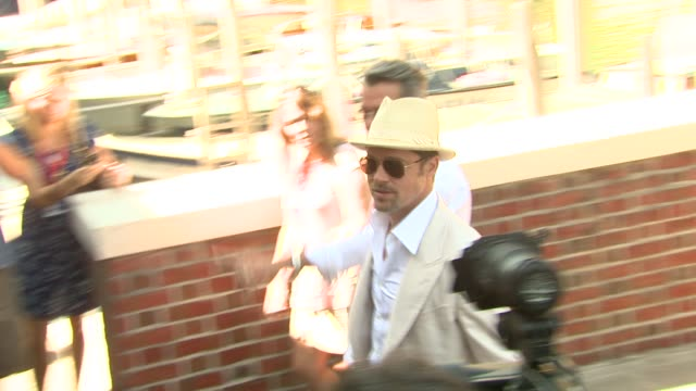 Brad Pitt at the 65th Venice Film Festival Burn After Reading Press Arrivals at Venice