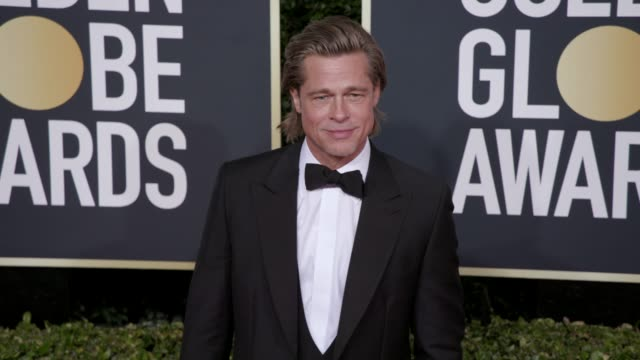 brad pitt at the 77th annual golden globe awards at the beverly hilton hotel on january 05 2020 in beverly hills california - golden globe awards stock videos & royalty-free footage