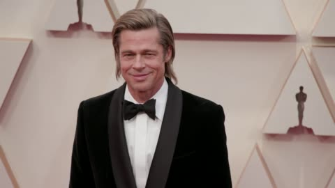 brad pitt at the 92nd annual academy awards at the dolby theatre on february 09, 2020 in hollywood, california. - academy of motion picture arts and sciences stock videos & royalty-free footage