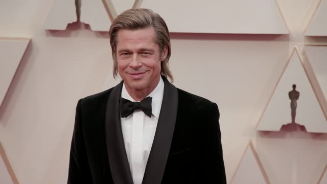 brad pitt at the 92nd annual academy awards at the dolby theatre on february 09, 2020 in hollywood, california. - academy awards stock videos & royalty-free footage