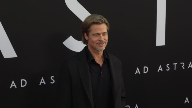 vídeos y material grabado en eventos de stock de brad pitt at the ad astra special screening at arclight cinerama dome on september 18 2019 in hollywood california - cinerama dome hollywood