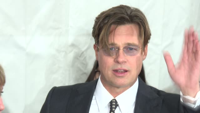 "brad pitt at ""the big short"" new york premiere at ziegfeld theatre on november 23, 2015 in new york city. - 2015 stock videos & royalty-free footage"