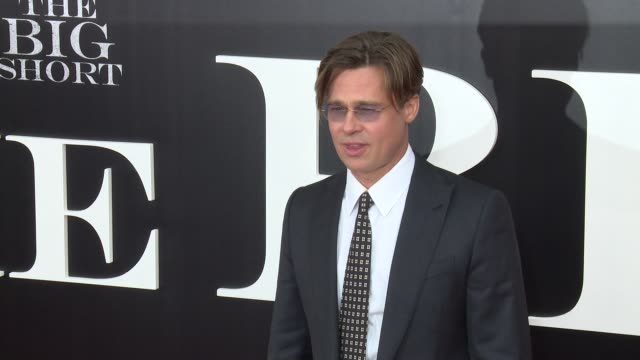 Brad Pitt at 'The Big Short' New York Premiere at Ziegfeld Theatre on November 23 2015 in New York City