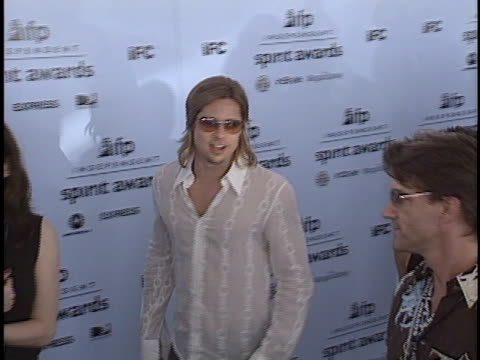 brad pitt at the ifp independent spirit awards at santa monica in santa monica, ca. - independent feature project video stock e b–roll