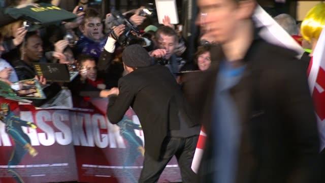 brad pitt at the kickass uk premiere at london england - kick ass film title stock videos & royalty-free footage