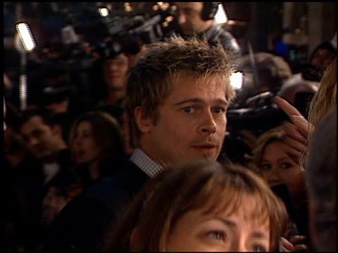 Brad Pitt at the 'Oceans 11' Premiere at the Mann Village Theatre in Westwood California on November 5 2001