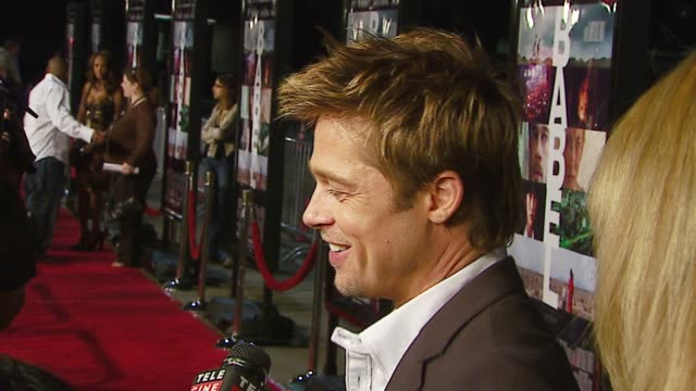 Brad Pitt at the Special Presentation of Paramount Vantage's 'Babel' at the Mann Village Theatre in Westwood California on November 5 2006