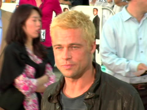 brad pitt at the world premiere of mr mrs smith at mann village theatre in westwood ca - regency village theater stock videos & royalty-free footage