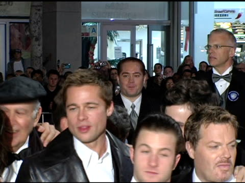brad pitt carl reiner scott caan eddie izzard casey affleck matt damon don cheadle at the 'ocean's twelve' los angeles premiere arrivals at grauman's... - matt damon stock videos and b-roll footage