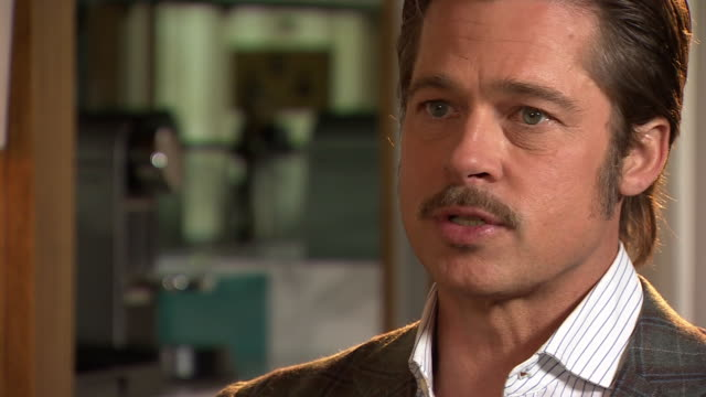 brad pitt describing his experience of meeting war veterans - brad pitt actor stock videos & royalty-free footage