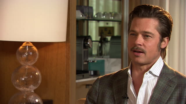brad pitt describing the message behind the movie fury - brad pitt actor stock videos & royalty-free footage