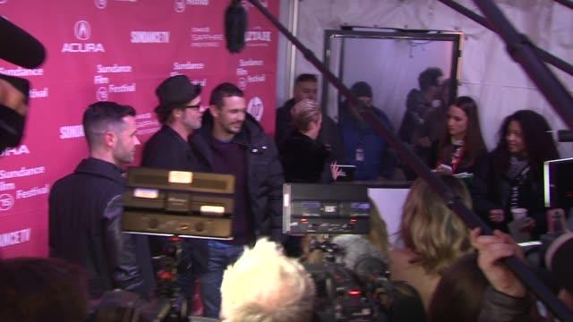 vídeos y material grabado en eventos de stock de brad pitt james franco at true story premiere sundance film festival 2015 at the marc theatre on january 23 2015 in park city utah - brad pitt