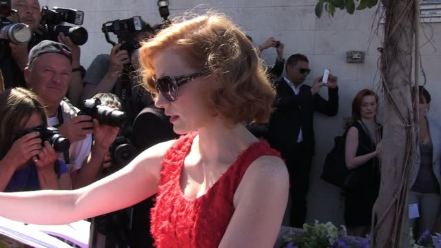 Brad Pitt Jessica Chastain at the The Tree of Life Press Conference 64th Cannes Film Festival at Cannes