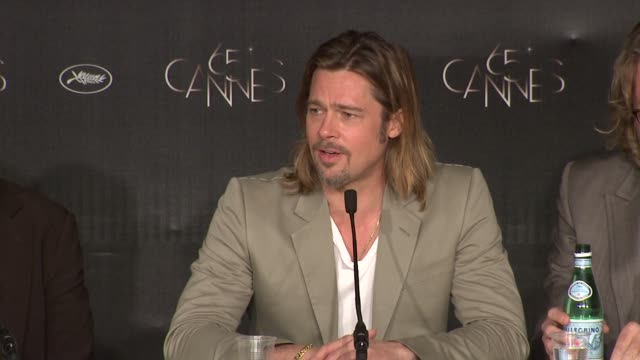 brad pitt on art vs profit finding the system interesting at killing them softly press conference 65th cannes film festival on may 22 2012 in cannes... - brad pitt attore video stock e b–roll