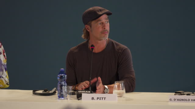 brad pitt on beginning the process with the director james gray, how brad pitt came on board as both the lead actor and a producer at ad astra -... - brad pitt actor stock videos & royalty-free footage