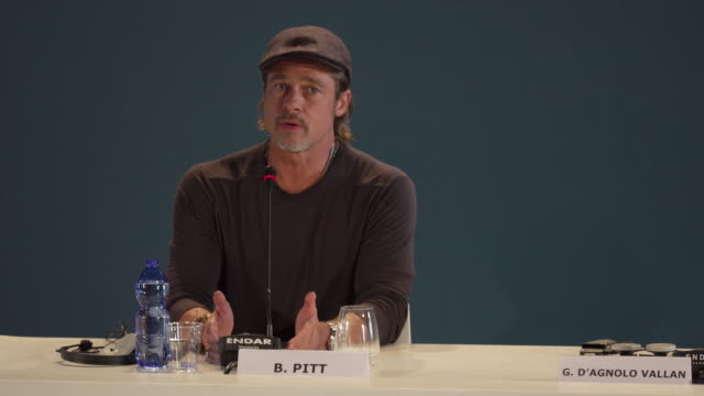 brad pitt on drawing on human vulnerabilities for roles as an actor and how this helped the creative process at ad astra - press conference - 76th... - brad pitt actor stock videos & royalty-free footage