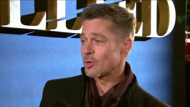 INTERVIEW Brad Pitt on first hearing of the story the scripts working with Robert Zemeckis on the film working with Marion Cotillard what audiences...