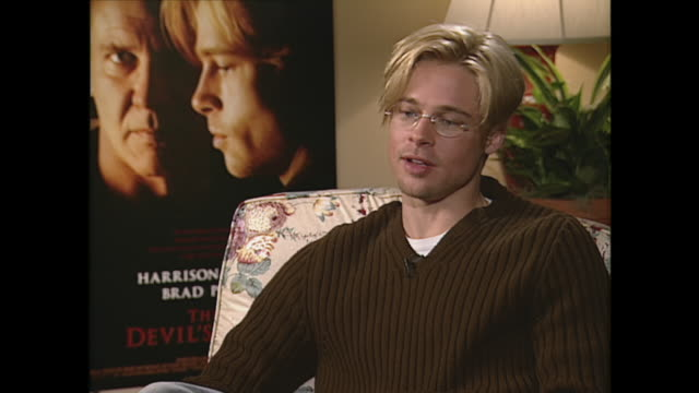 brad pitt on the press - brad pitt actor stock videos & royalty-free footage