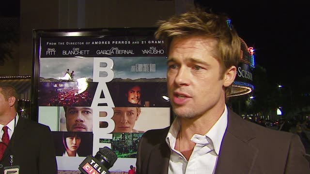 brad pitt on working with a great director and great actors, on whether people will relate more to the timely global angle or the relationship /... - brad pitt actor stock videos & royalty-free footage