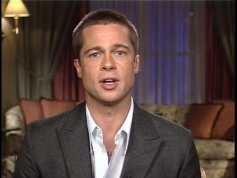 brad pitt remote interview - brad pitt actor stock videos & royalty-free footage