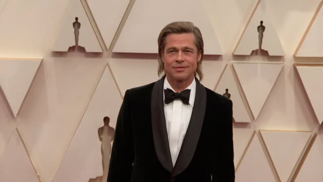 brad pitt walking the red carpet at the 92nd annual academy awards at the dolby theater in los angeles, california. - brad pitt actor stock videos & royalty-free footage