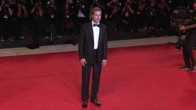 brad pitt walks the red carpet for ad astra at the venice film festival venice, italy on thursday august 29, 2019 - brad pitt actor stock videos & royalty-free footage