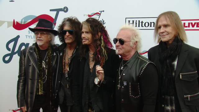 Brad Whitford Joe Perry Steven Tyler Joey Kramer Tom Hamilton at Steven Tyler's 2nd Annual GRAMMY Awards Viewing Party to Benefit Janie's Fund in Los...