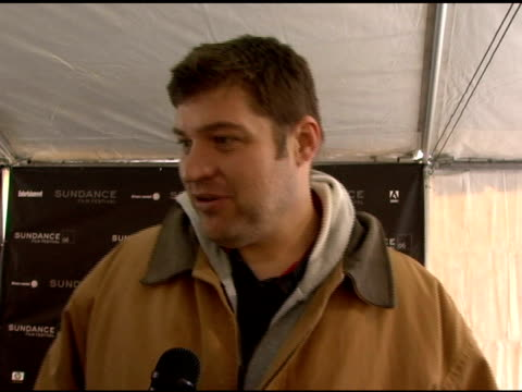 brad william henke on his character and the story at the 2006 sundance film festival 'sherrybaby' premiere on january 21 2006 - ユタ州 パークシティ点の映像素材/bロール
