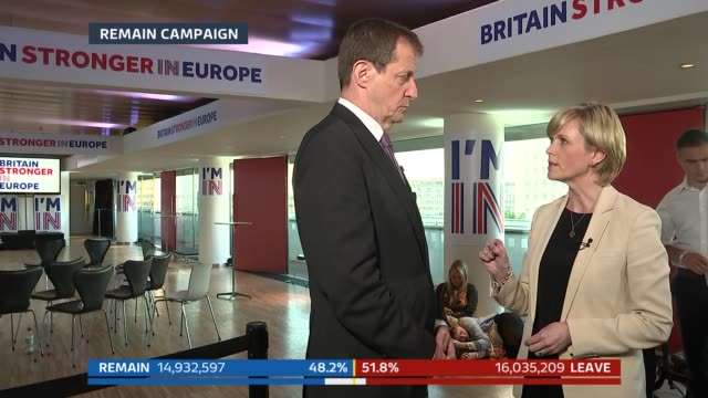 bradby ext richard gaisford 2way interview outside house of boris johnson mp sot julie etchingham interviews alastair campbell sot manchester... - referendum stock-videos und b-roll-filmmaterial