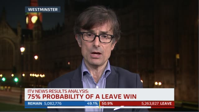 bradby professor colin rallings professor jane green and allegra stratton discussion ext / night robert peston 2way interview from westminster sot... - ジュリー エッチンガム点の映像素材/bロール