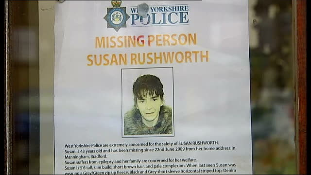 close shot of missing person poster for susan rushworth - missing persons stock videos & royalty-free footage