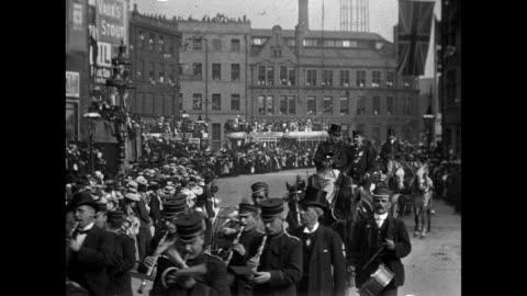 bradford coronation procession, 1902 - royalty stock videos & royalty-free footage