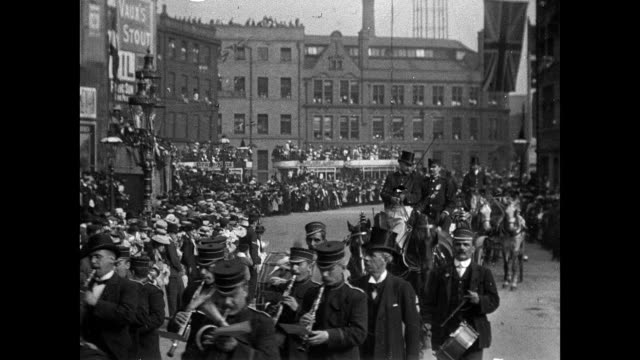 bradford coronation procession, 1902 - king royal person stock videos & royalty-free footage