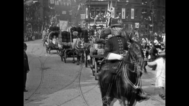 bradford coronation procession, 1902 - british royalty stock videos & royalty-free footage