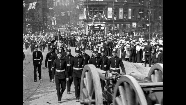 bradford coronation procession, 1902 - edwardian style stock videos & royalty-free footage