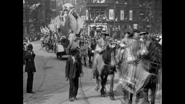 bradford coronation procession, 1902 - coronation stock videos and b-roll footage