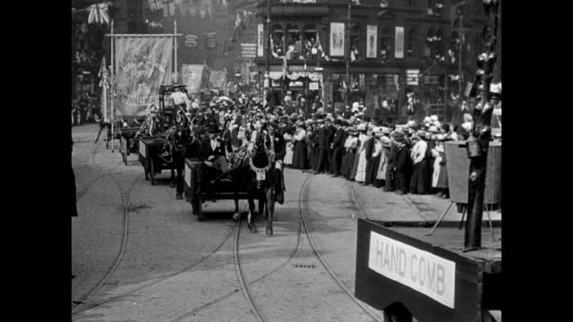 stockvideo's en b-roll-footage met bradford coronation procession, 1902 - britse koningshuis