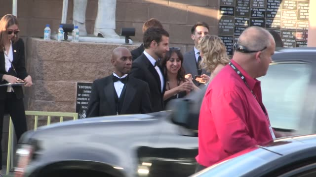 Bradley Cooper and Suki Waterhouse arrive at 20th Annual SAG Awards Celebrity Sightings in Los Angeles on in Los Angeles California